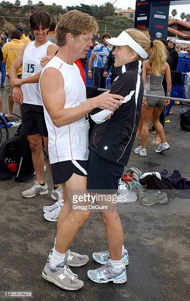 Felicity Huffman and William H Macy during 19th Annual Nautica Malibu Triathlon Arrivals at Zuma Beach in Malibu California United States