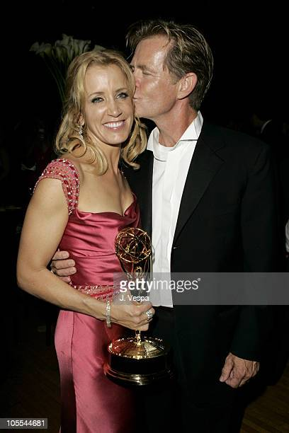 Felicity Huffman and William H Macy during The 57th Annual Emmy Awards Governors Ball at Shrine Auditorium in Los Angeles California United States