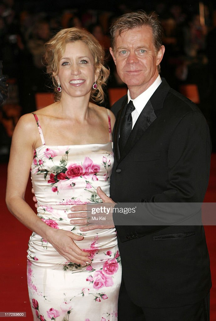 Felicity Huffman and William H. Macy during The Orange British Academy Film Awards 2006 - Arrivals at Odeon Leicester Square in London, Great Britain.