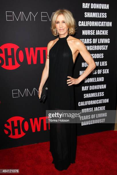 Felicity Huffman attends Showtime's 2014 'EmmyEve Soiree' at Sunset Tower on August 24 2014 in West Hollywood California