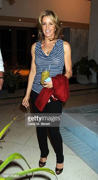 Felicity Huffman attends Soho Beach House opening 'Sleepover Weekend' hosted by Grey Goose vodka on October 9 2010 in Miami Beach Florida