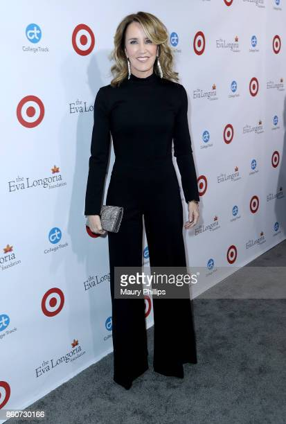 Felicity Huffman attends the Eva Longoria Foundation annual dinner at Four Seasons Hotel Los Angeles at Beverly Hills on October 12 2017 in Los...