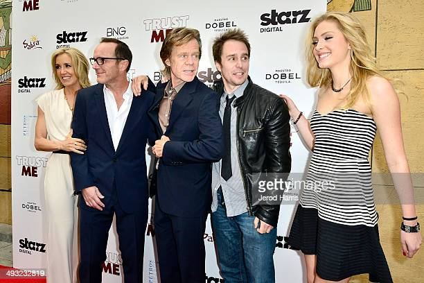 Felicity Huffman Clark Gregg William H Macy Sam Rockwell and Saxon Sharbino arrive at the Los Angeles Premiere of 'Trust Me' at the Egyptian Theatre...