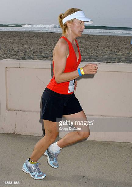 Felicity Huffman during 19th Annual Nautica Malibu Triathlon Arrivals at Zuma Beach in Malibu California United States