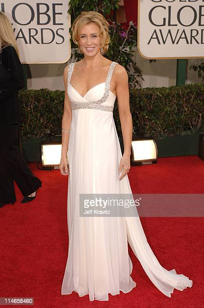 Felicity Huffman during The 63rd Annual Golden Globe Awards Red Carpet at Beverly Hilton Hotel in Beverly Hills California United States