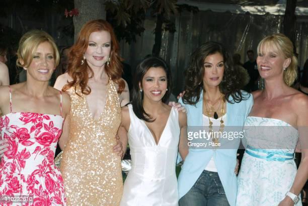 Felicity Huffman Marcia Cross Eva Longoria Teri Hatcher and Nicollette Sheridan of 'Desperate Housewives'