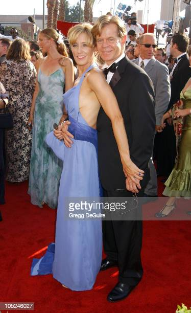 Felicity Huffman William H Macy during 55th Annual Primetime Emmy Awards Arrivals/DeGuire at The Shrine Auditorium in Los Angeles California United...