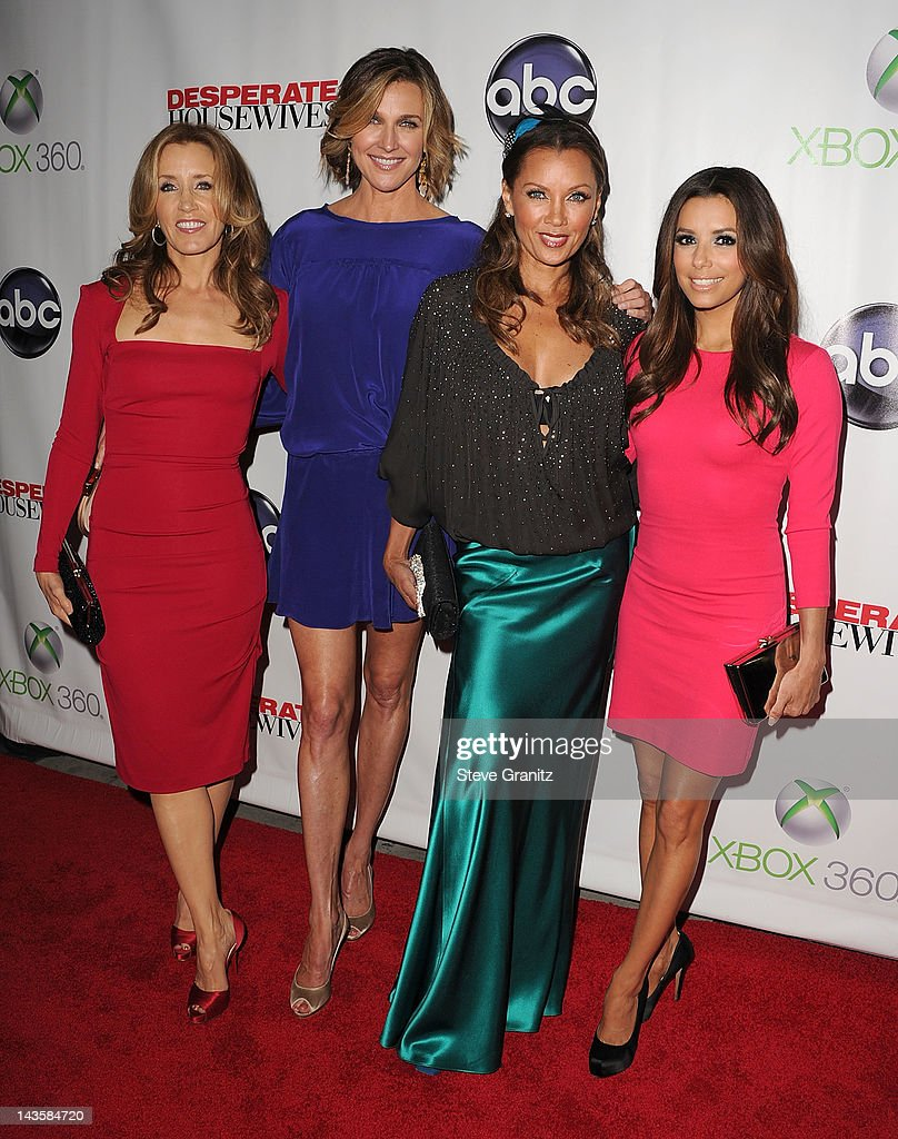 Felicity HuffmanBrenda StrongVanessa Williams and Eva Longoria attends 'Desperate Housewives' Series Finale at W Hollywood on April 29 2012 in...