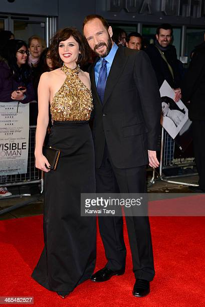 Felicity Jones and Ralph Fiennes attend the UK Premiere of 'The Invisible Woman' at the ODEON Kensington on January 27 2014 in London England
