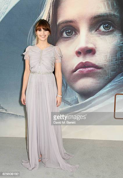 Felicity Jones attends a fan screening of 'Rogue One A Star Wars Story' at the BFI IMAX on December 13 2016 in London England