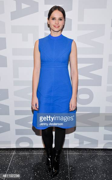 Felicity Jones attends a screening of 'The Theory of Everything' during MoMA's Contenders series at Museum of Modern Art on January 6 2015 in New...