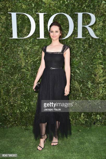 Felicity Jones attends 'Christian Dior couturier du reve' Exhibition Launch celebrating 70 years of creation at Musee Des Arts Decoratifs on July 3...