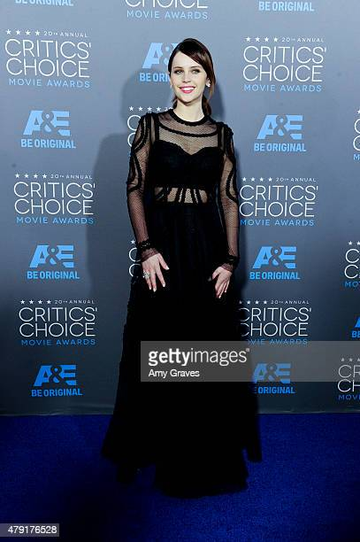 Felicity Jones attends the 20th Annual Critics' Choice Movie Awards on January 15 2015 in Los Angeles California
