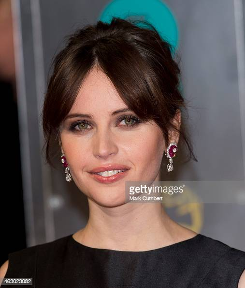 Felicity Jones attends the EE British Academy Film Awards at The Royal Opera House on February 8 2015 in London England