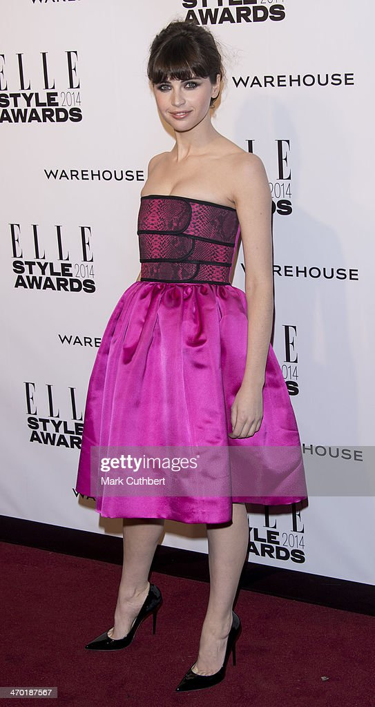 Felicity Jones attends the Elle Style Awards 2014 at one Embankment on February 18, 2014 in London, England.