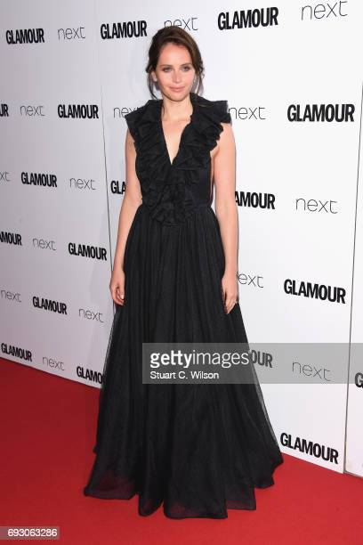 Felicity Jones attends the Glamour Women of The Year awards 2017 at Berkeley Square Gardens on June 6 2017 in London England