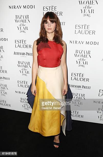 Felicity Jones attends the Harper's Bazaar Women of the Year Awards 2016 at Claridge's Hotel on October 31 2016 in London England