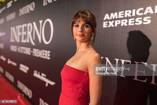 Felicity Jones attends the INFERNO World Premiere Red Carpet at the Opera di Firenze on October 8 2016 in Florence Italy