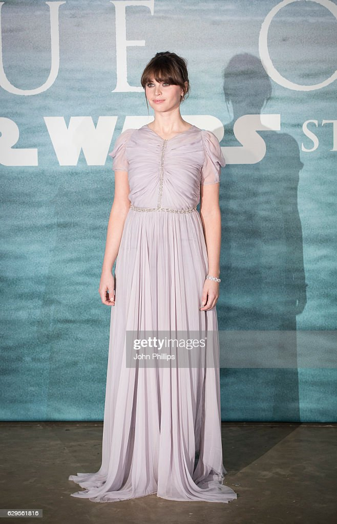 Felicity Jones attends the launch event for 'Rogue One: A Star Wars Story' at Tate Modern on December 13, 2016 in London, England.