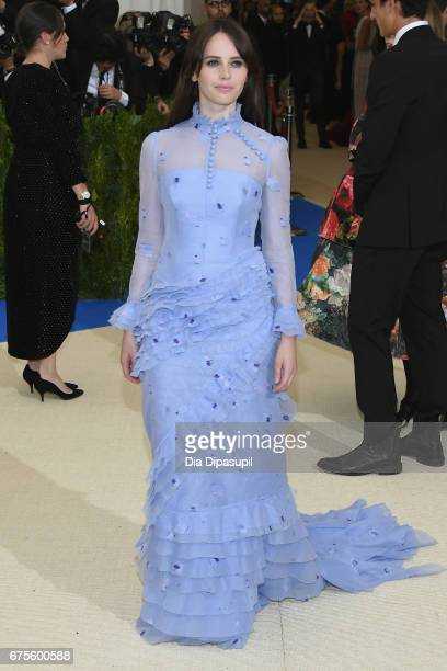 Felicity Jones attends the 'Rei Kawakubo/Comme des Garcons Art Of The InBetween' Costume Institute Gala at Metropolitan Museum of Art on May 1 2017...