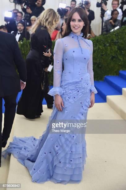 Felicity Jones attends the 'Rei Kawakubo/Comme des Garcons Art Of The InBetween' Costume Institute Gala at Metropolitan Museum of Art on May 1 2017...