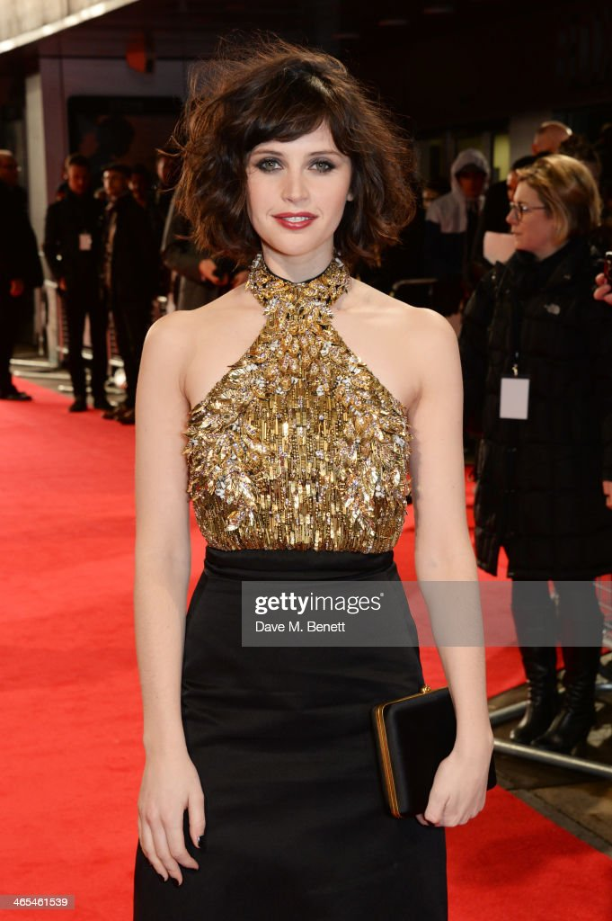 <a gi-track='captionPersonalityLinkClicked' href=/galleries/search?phrase=Felicity+Jones&family=editorial&specificpeople=5128418 ng-click='$event.stopPropagation()'>Felicity Jones</a> attends the UK Premiere of 'The Invisible Woman' at the ODEON Kensington on January 27, 2014 in London, England.