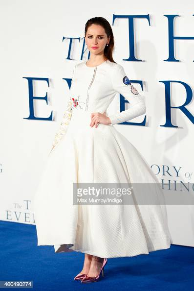 Felicity Jones attends the UK Premiere of 'The Theory Of Everything' at Odeon Leicester Square on December 9 2014 in London England