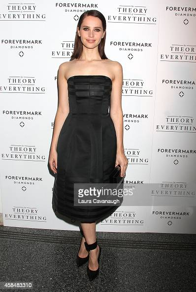 Felicity Jones attends 'Theory Of Everything ' New York Screening at Lighthouse International Theater on November 5 2014 in New York City