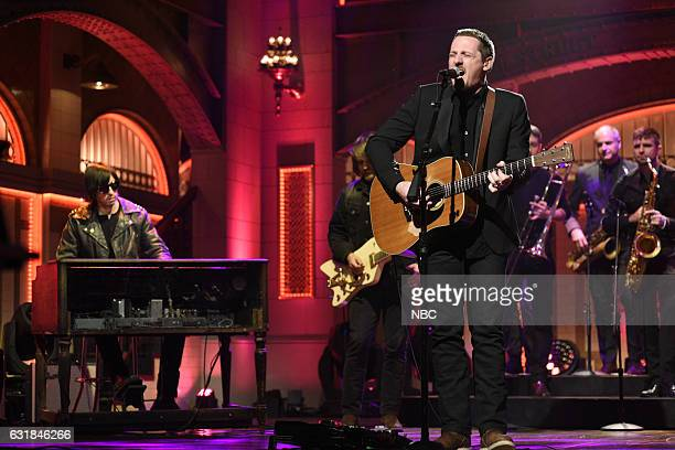 LIVE 'Felicity Jones' Episode 1715 Pictured Musical guest Sturgill Simpson performs on January 14th 2017