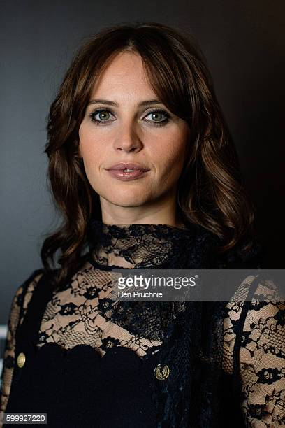Felicity Jones poses for a portrait during the Star Wars Convention 2016 on July 15 2016 in London England