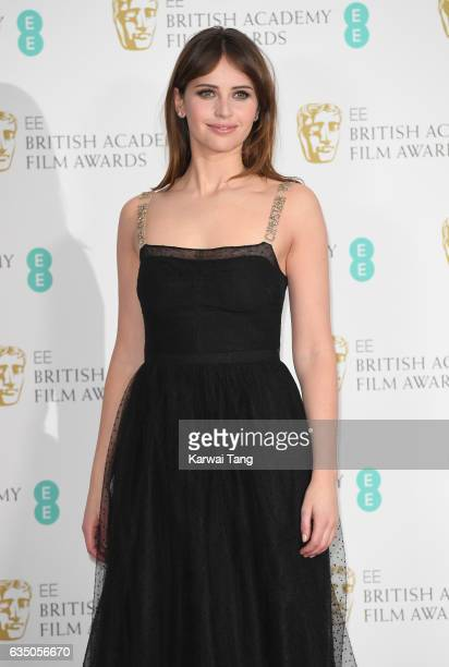 Felicity Jones poses in the winners room at the 70th EE British Academy Film Awards at the Royal Albert Hall on February 12 2017 in London England