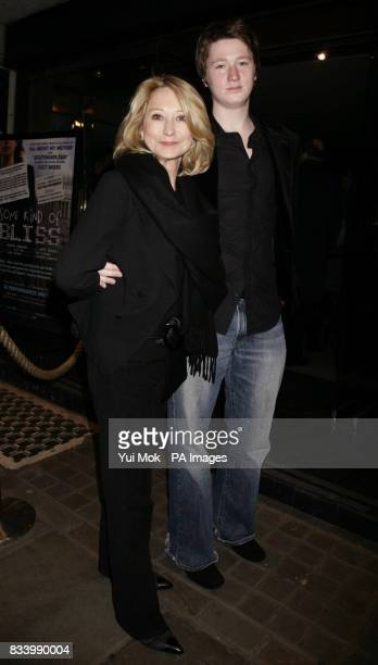 Felicity Kendall and son Jacob arriving for the press night of Patrick Marber's play Dealer's Choice at Trafalgar Studios in central London
