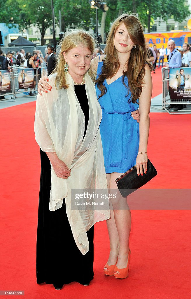 Felicity Montagu (L) and daughter attend the London Premiere of 'Alan Partidge: Alpha Papa' at Vue Leicester Square on July 24, 2013 in London, England.