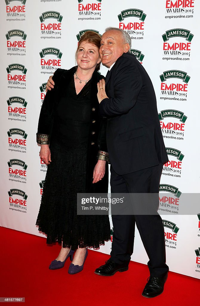 Felicity Montagu and Simon Greenall attend the Jameson Empire Awards 2014 at the Grosvenor House Hotel on March 30, 2014 in London, England. Regarded as a relaxed end to the awards show season, the Jameson Empire Awards celebrate the film industry's success stories of the year with winners being voted for entirely by members of the public. Visit empireonline.com/awards2014 for more information.