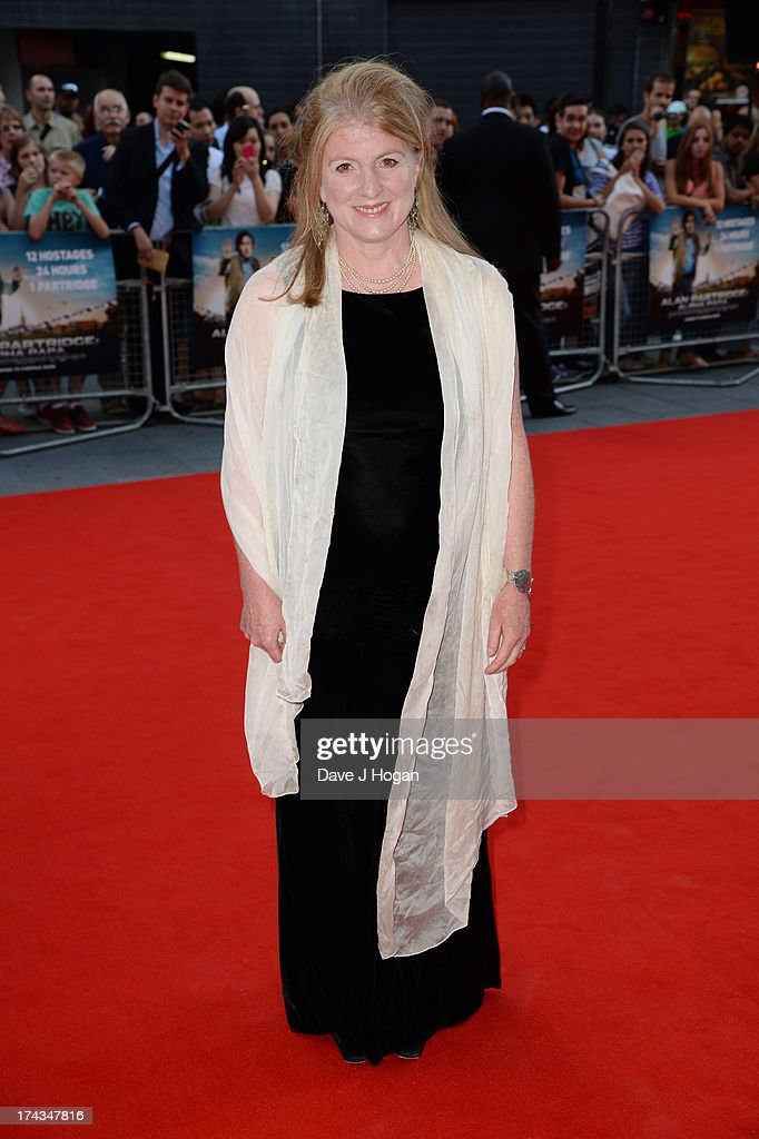 Felicity Montagu attends the London Premiere of 'Alan Partidge: Alpha Papa' at Vue Leicester Square on July 24, 2013 in London, England.