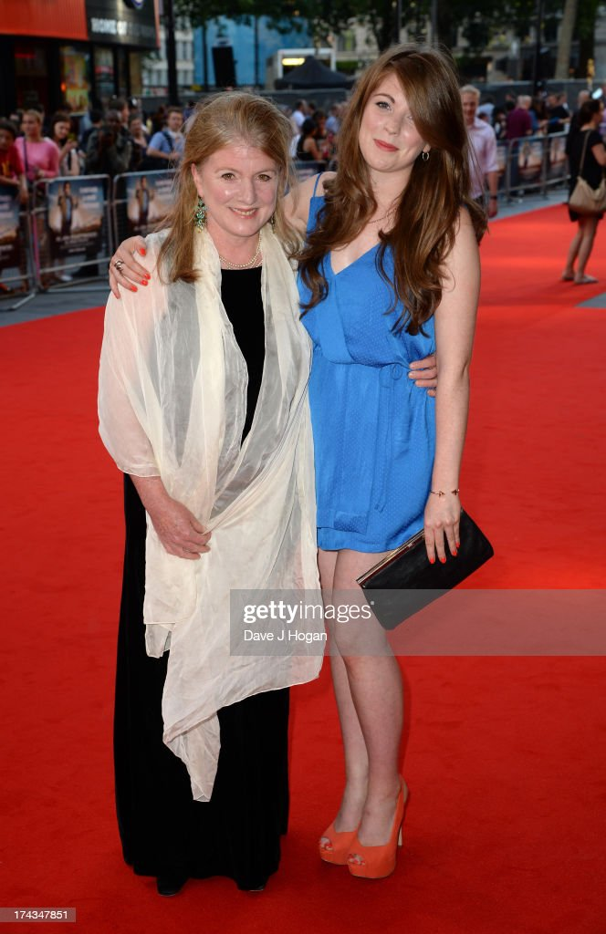 Felicity Montagu (L) attends the London Premiere of 'Alan Partidge: Alpha Papa' at Vue Leicester Square on July 24, 2013 in London, England.