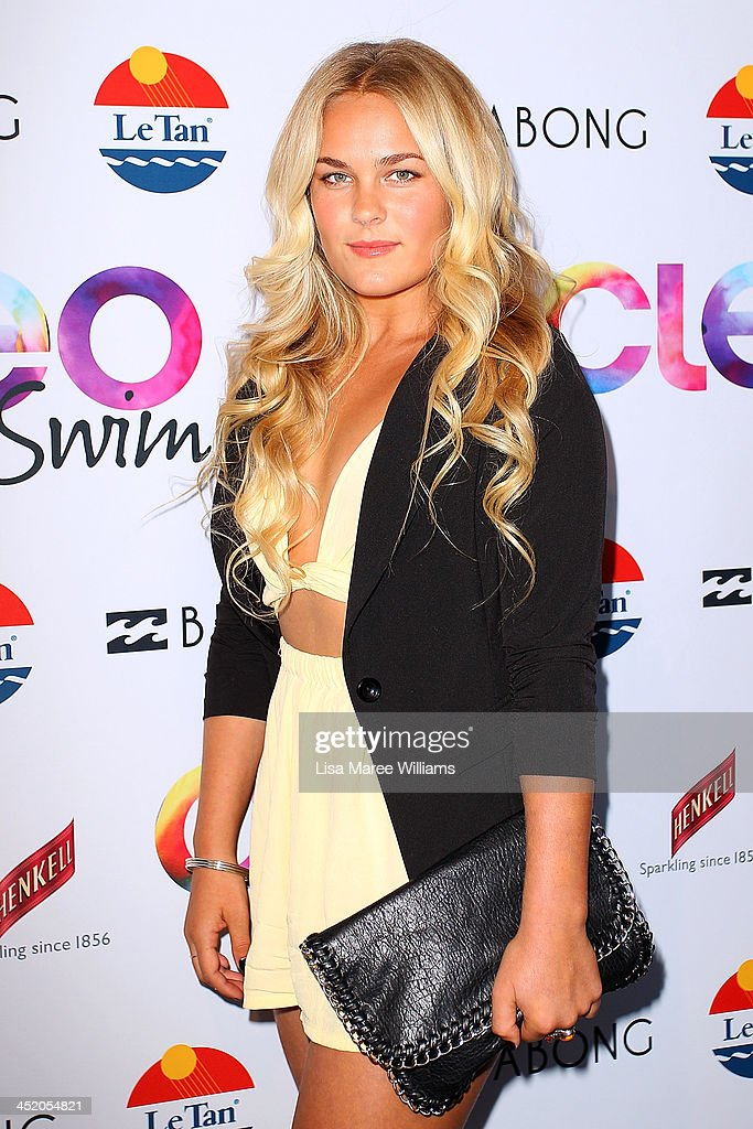Felicity Palmateer arrives at the 2013 CLEO Swim Party at The Bucket List on November 26, 2013 in Sydney, Australia.
