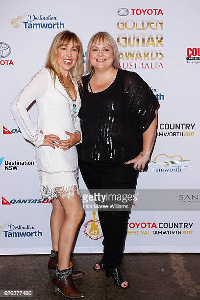 Felicity Urquhart and Lyn Bowtell attends the 2017 Golden Guitar Awards Finalists event at Carriageworks on November 29 2016 in Sydney Australia