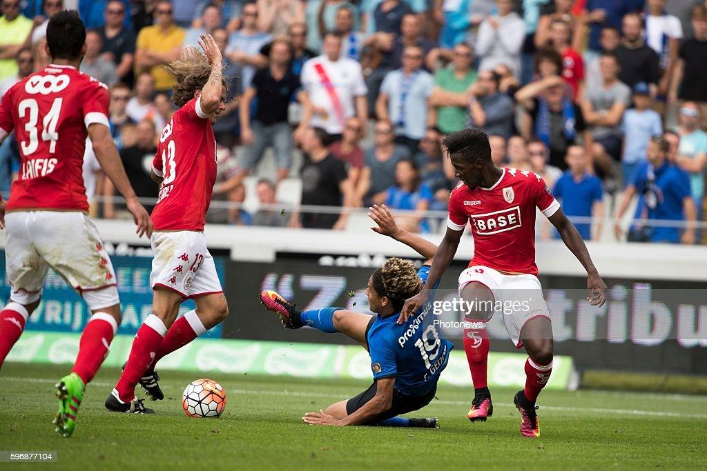 Felie Gedoz De Conceicao midfielder of Club Brugge s13 Alexander Scholz defender of Standard Liege s60 Birama Toure midfielder of Standard Liege...