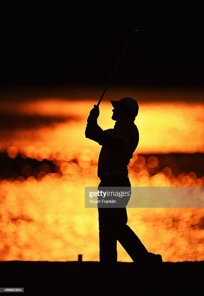 <a gi-track='captionPersonalityLinkClicked' href=/galleries/search?phrase=Felipe+Aguilar&family=editorial&specificpeople=562693 ng-click='$event.stopPropagation()'>Felipe Aguilar</a> of Chile plays a shot during the first round of the Shenzhen International at Genzon Golf Club on April 16, 2015 in Shenzhen, China.