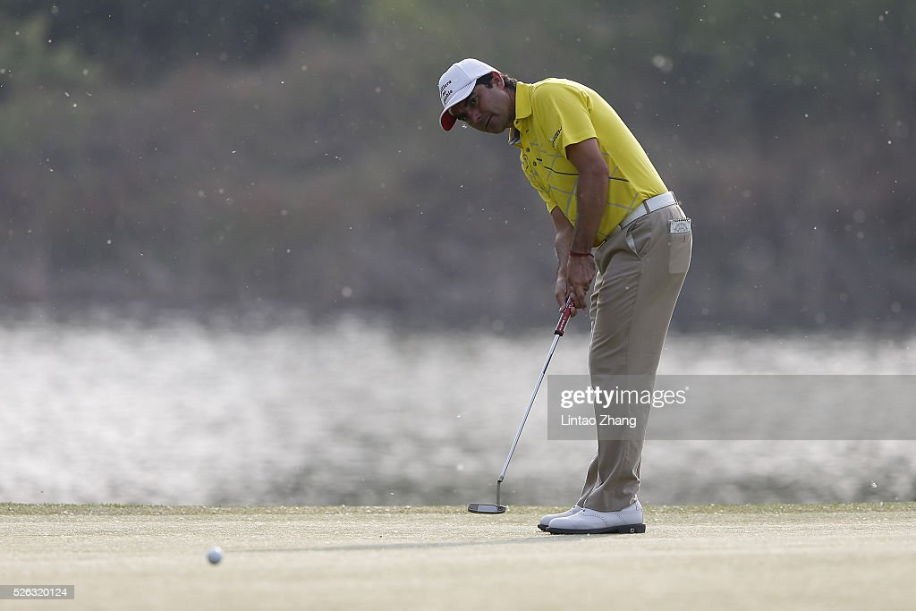 <a gi-track='captionPersonalityLinkClicked' href=/galleries/search?phrase=Felipe+Aguilar&family=editorial&specificpeople=562693 ng-click='$event.stopPropagation()'>Felipe Aguilar</a> of Chile plays a shot during the third round of the Volvo China open at Topwin Golf and Country Club on April 30, 2016 in Beijing, China.