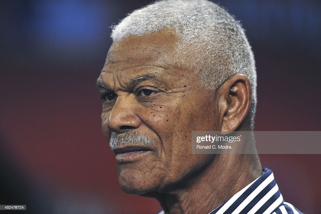 <a gi-track='captionPersonalityLinkClicked' href=/galleries/search?phrase=Felipe+Alou&family=editorial&specificpeople=93385 ng-click='$event.stopPropagation()'>Felipe Alou</a> looks on before a MLB game between the San Francisco Giants and the Miami Marlins at Marlins Park on July 18, 2014 in Miami, Florida.