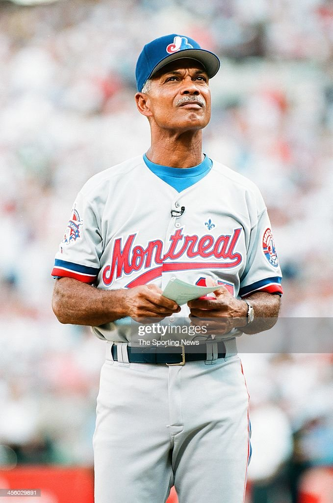 <a gi-track='captionPersonalityLinkClicked' href=/galleries/search?phrase=Felipe+Alou&family=editorial&specificpeople=93385 ng-click='$event.stopPropagation()'>Felipe Alou</a> of the Montreal Expos during the 1995 All Star Weekend on July 10, 1995 at The Ballpark at Arlington in Arlington, Texas.