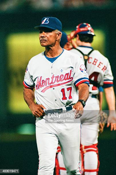 Felipe Alou of the Montreal Expos during the game against the St Louis Cardinals on August 27 1997 at Busch Stadium in St Louis Missouri