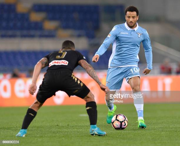 Felipe Anderson during the Italian Serie A football match between SS Lazio and AC Napoli at the Olympic Stadium in Rome on april 09 2017