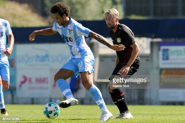 Felipe Anderson of SS Lazio compete for the ball with Kampl Kevin of Bayer Leverkusen during the preseason friendly match between SS Lazio and Bayer...