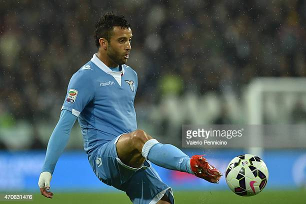 Felipe Anderson of SS Lazio controls the ball during the Serie A match between Juventus FC and SS Lazio at Juventus Arena on April 18 2015 in Turin...