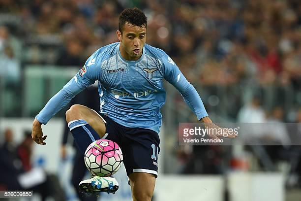 Felipe Anderson of SS Lazio controls the ball during the Serie A match between Juventus FC and SS Lazio at Juventus Arena on April 20 2016 in Turin...