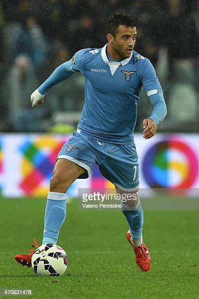 Felipe Anderson of SS Lazio in action during the Serie A match between Juventus FC and SS Lazio at Juventus Arena on April 18 2015 in Turin Italy