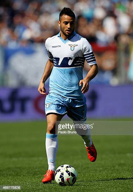 Felipe Anderson of SS Lazio in action during the Serie A match between SS Lazio and Empoli FC at Stadio Olimpico on April 12 2015 in Rome Italy